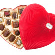 Valentine Chocolates with Clipping Path — Stock Photo