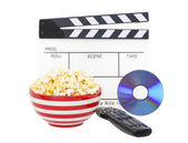 Movie and Popcorn — Stock Photo