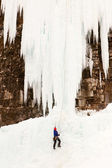 Upper Johnson Falls Ice Climber — Stock Photo