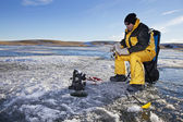 Ice Fishing — Stock Photo