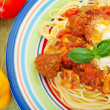 Spaghetti & Meatballs — Stock Photo