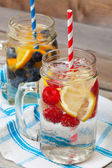 Sparkling Fruit Drinks — Stock Photo