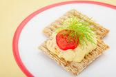 Baharatlı ve acılı yumurta kraker — Stok fotoğraf