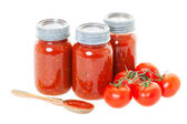 Home Canned Tomato Sauce — Stock Photo