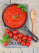 Sauce de tomates de variétés anciennes — Photo