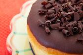 Chocolate Bismark Doughnut — Stock Photo