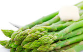 Cooked Asparagus With Butter — Stock Photo