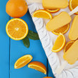 Stock Photo: Orange Popsicle Ice Cream Bars