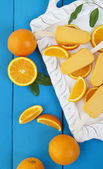 Orange Popsicle Ice Cream Bars — Stock Photo