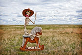 Cowboy Skeleton — Stock Photo