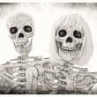 Stock Photo: Skeleton Couple Portrait