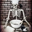 Skeleton Cooking — Stock Photo