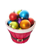 Bulging Basket of Balls with Clipping Path — Stock Photo