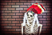 Native American Skeleton — Stock Photo
