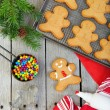 Stock Photo: Homemade Gingerbread Men