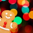 Gingerbread Man with Bokeh — Stock Photo