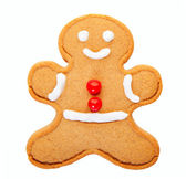 Gingerbread Man with Clipping Path — Stock Photo