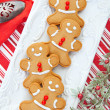 Stock Photo: Plate of Gingerbread Men