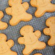 Freshly Baked Gingerbread Men — Stock Photo