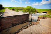 Flood Damaged Road — Stock Photo