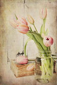 Vintage Pink Tulips — Stock Photo