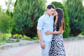 """Young beautiful lady says """"i love you"""" to her boyfriend — Stock Photo"""
