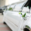 Stock Photo: Wedding car decoration