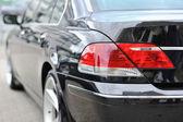 Closeup of rear tail light on a modern car — Stock Photo