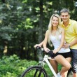 Royalty-Free Stock Photo: Couple on a bikes in countryside