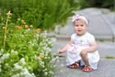 Cute toddler baby outdoors — Stock Photo