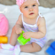 Stock Photo: Sweet little baby girl portrait