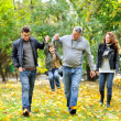 Royalty-Free Stock Photo: Happy family portrait walking together