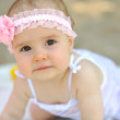 Portrait of sweet little girl outdoors — Stock Photo