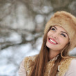 Beautiful smiling woman - closeup — Stock Photo