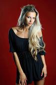 Beautiful sexy blond woman portrait — Stock Photo