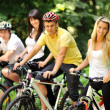 Group of on a bicycles in a countryside - portrait — Stock Photo #22426849