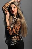 Studio beautiful woman portrait — Stock Photo