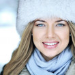 Beautiful woman face close up — Stock Photo