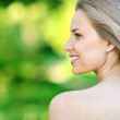 Beautiful woman profile - closeup portrait  — Stock Photo