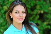 Beautiful girl face - outdoors portrait — Stock Photo