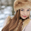Beautiful girl in winter - close up — Stock Photo #31224405