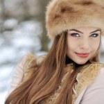 Beautiful girl in winter - close up — Stock Photo #31224405