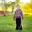 Sweet little boy portrait outdoor — Stock Photo