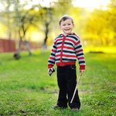 Sweet little boy portrait outdoor — Stock Photo