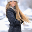 Young woman winter portrait — Stockfoto