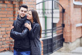 Young couple in love - outdoor portrait — Stock Photo