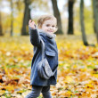 Adorable little girl outdoor portrait — Stock Photo