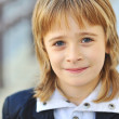 Cute little boy face - closeup — Stock Photo