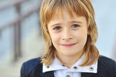 Söt liten pojke face - närbild — Stockfoto