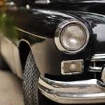 Old car - headlight of a vintage car — Stock Photo